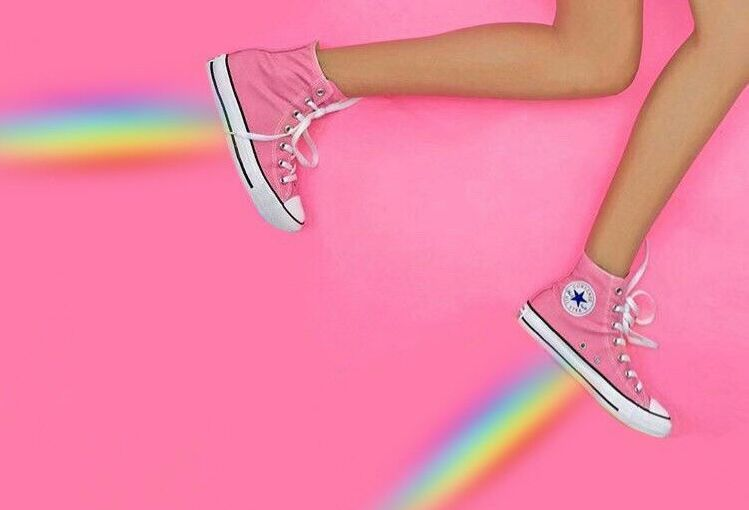 awesome sneaker remix with rainbow