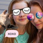 PicsArt iMessages Stickers on the photo of two girls