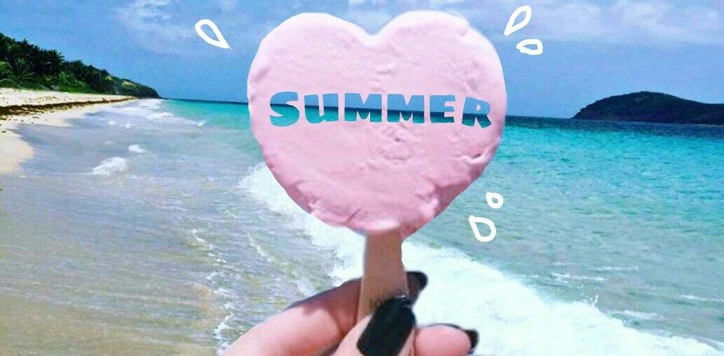 Cool Text Cutout on an ice-cream for Summer Edits