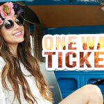 One Way Ticket sticker on the photo of Armenian singer Sirusho