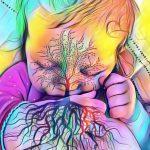 tree of life breastfeeding photo of a baby girl