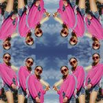 #Mirrored Edit on the photo of a girl in pink