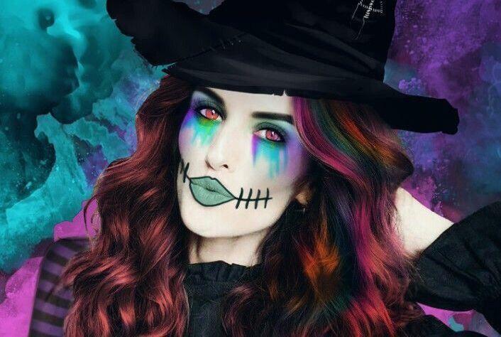 Natalia Vodianova's halloween inspired photo edit