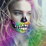 Natalia Vodianova halloween mask edit with stickers