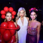 Natalia Vodianova, Karlie Kloss and Izabel Goulart at Fund Fair
