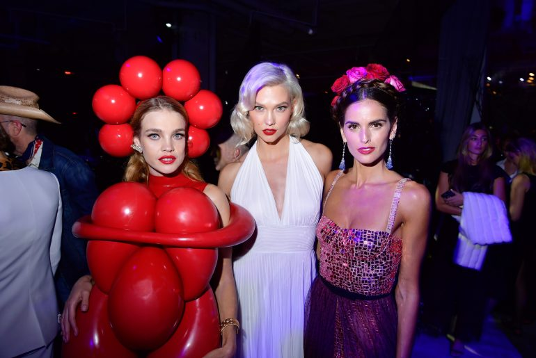 Natalia Vodianova, Karlie Kloss and Izabel Goulart at Fund Fair