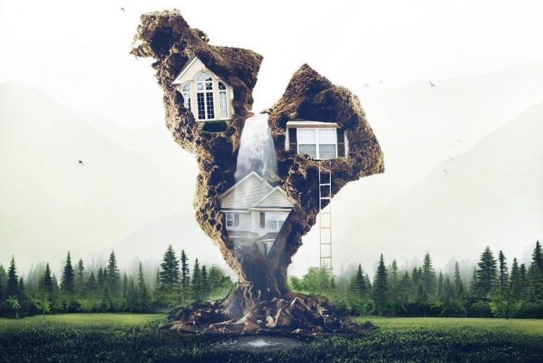 Amazing Surreal Tree House made with PicsArt