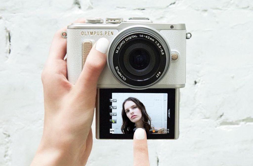 photo camera taking a selfie