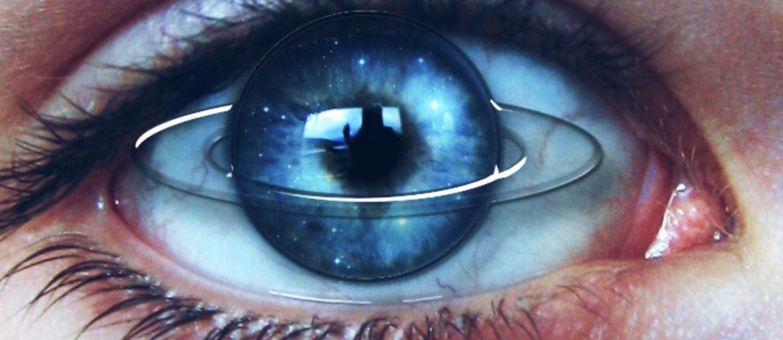 Saturn eye edit with a sticker