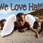 We Love Haiti on the photo of children with angel sticker