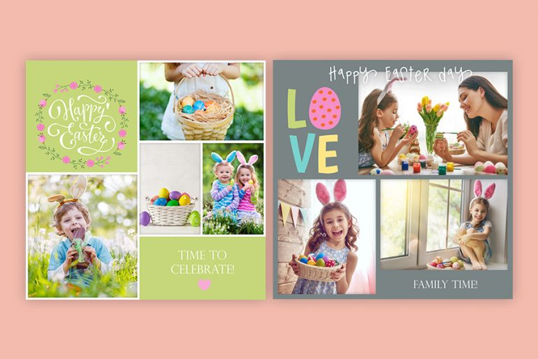Backgrounds, frames and collages for Easter edits