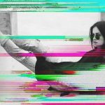 Fashionable girl in sunglasses using VHS Overlay with PicsArt