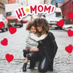 Mother's Day Edit with heart stickers