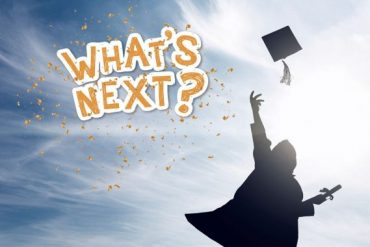 Graduation edit with the sticker 'What's next?'