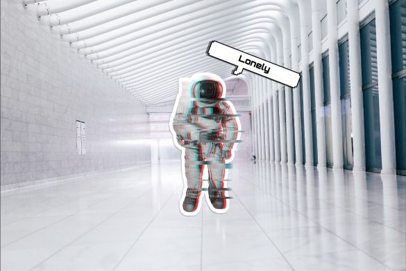 Astronauts edit on the photo of an empty building