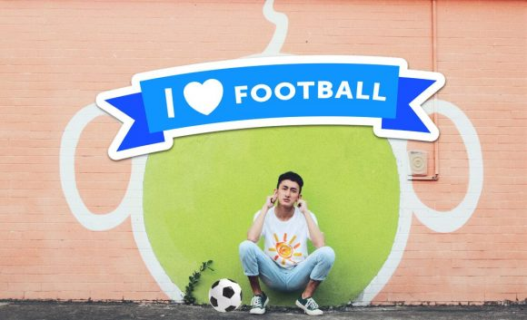 'I love football' stickers on PicsArt