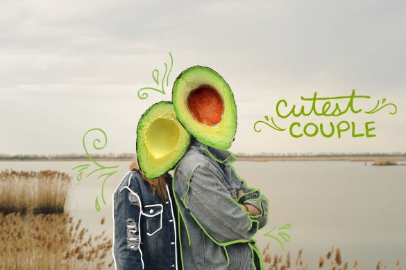 #RelationshipGoals Edits on PicsArt, photo of a couple using avocado stickers