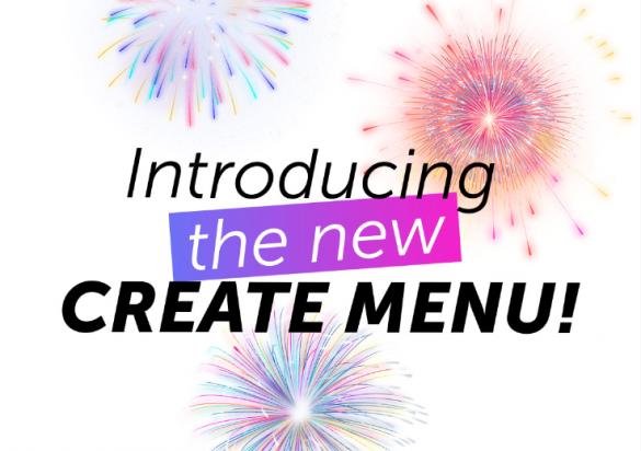 New Create Menu by PicsArt