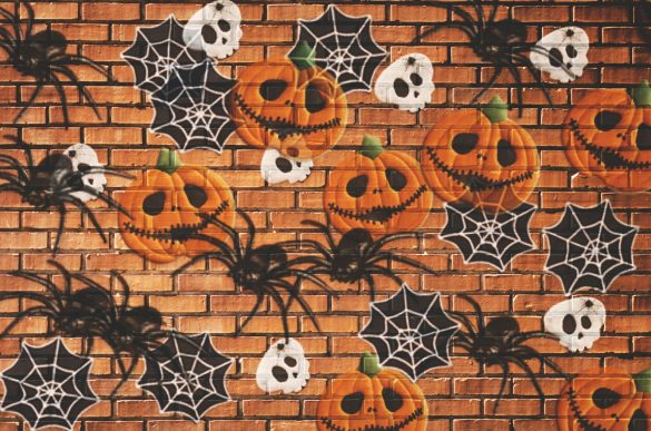 Halloween edit with brushes on the wall by PicsArt