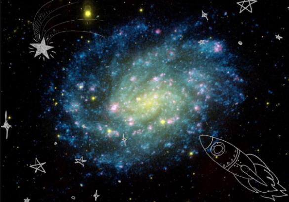 NASA Universe Image Library edited with PicsArt