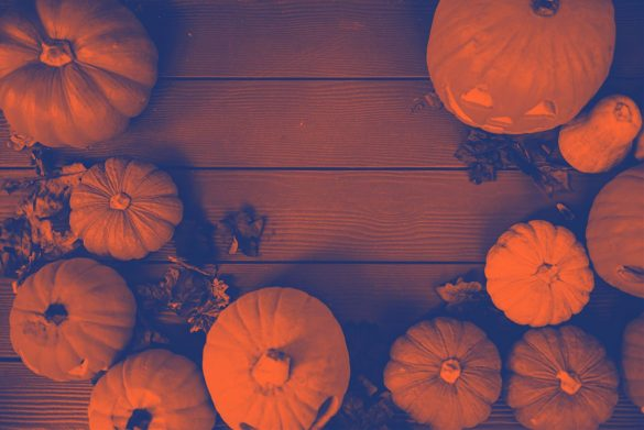 Pumpkins with PicsArt filters