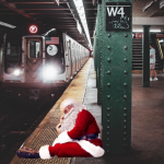 PicsArt Holiday Packs with Santa Claus sticker in metro