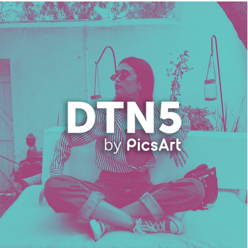 Fashion blogger with DTN5 PicsArt Filter