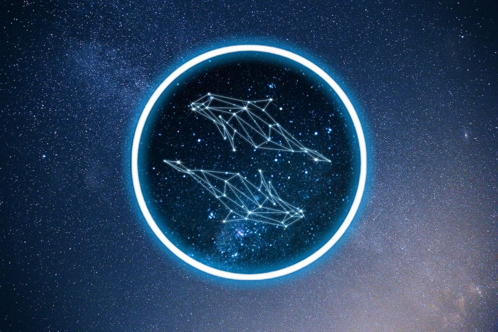 Pisces zodiac constellation