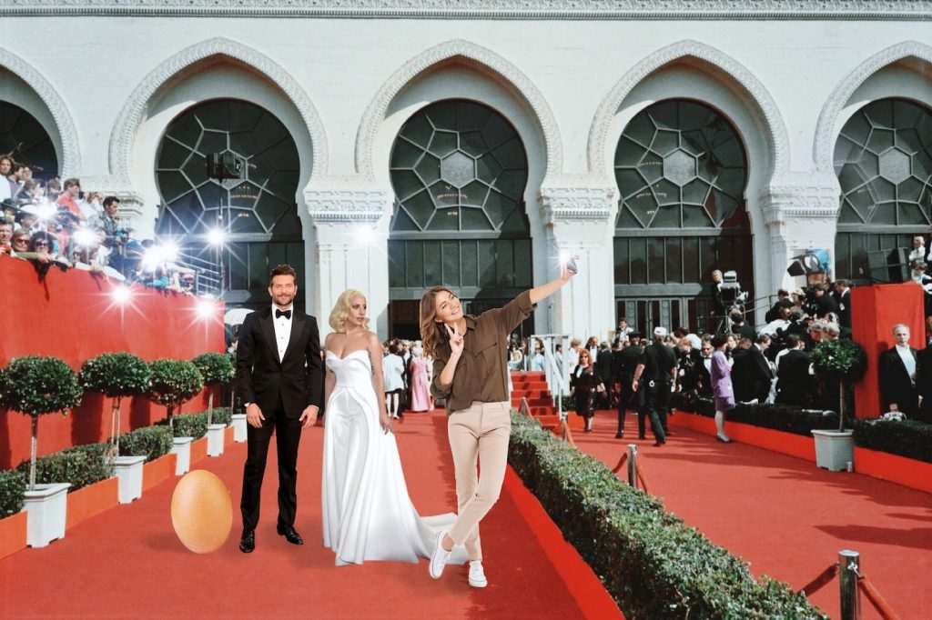 Girl on the red carpet with Lady Gaga and Bradley Cooper