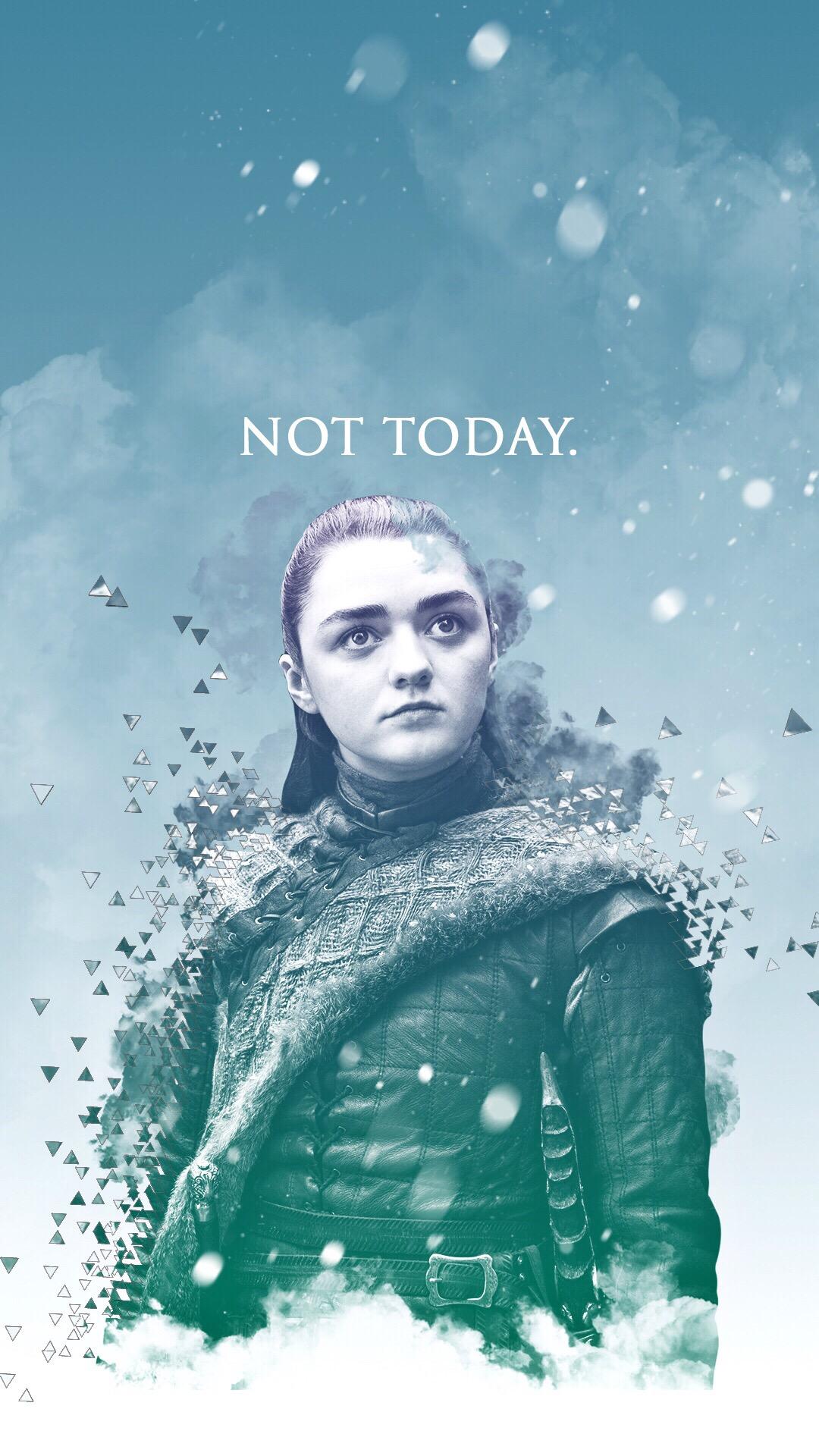 "Arya Stark Game of Thrones wallpaper ""not today"""