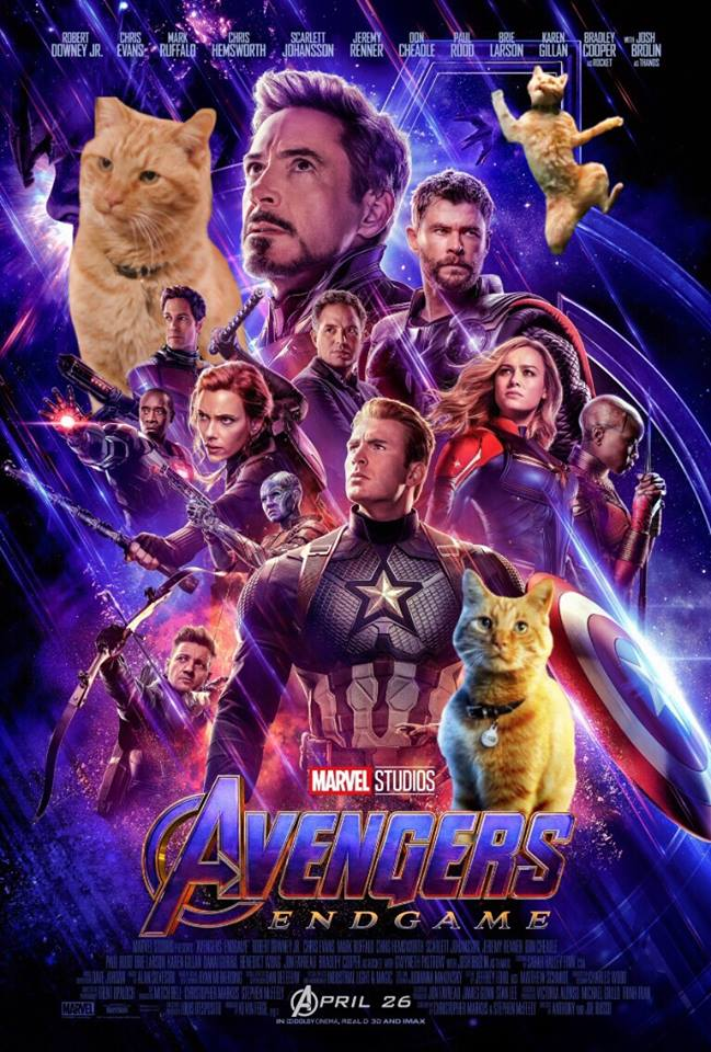 """""""Avengers: Endgame"""" poster with added PicsArt Goose Stickers"""