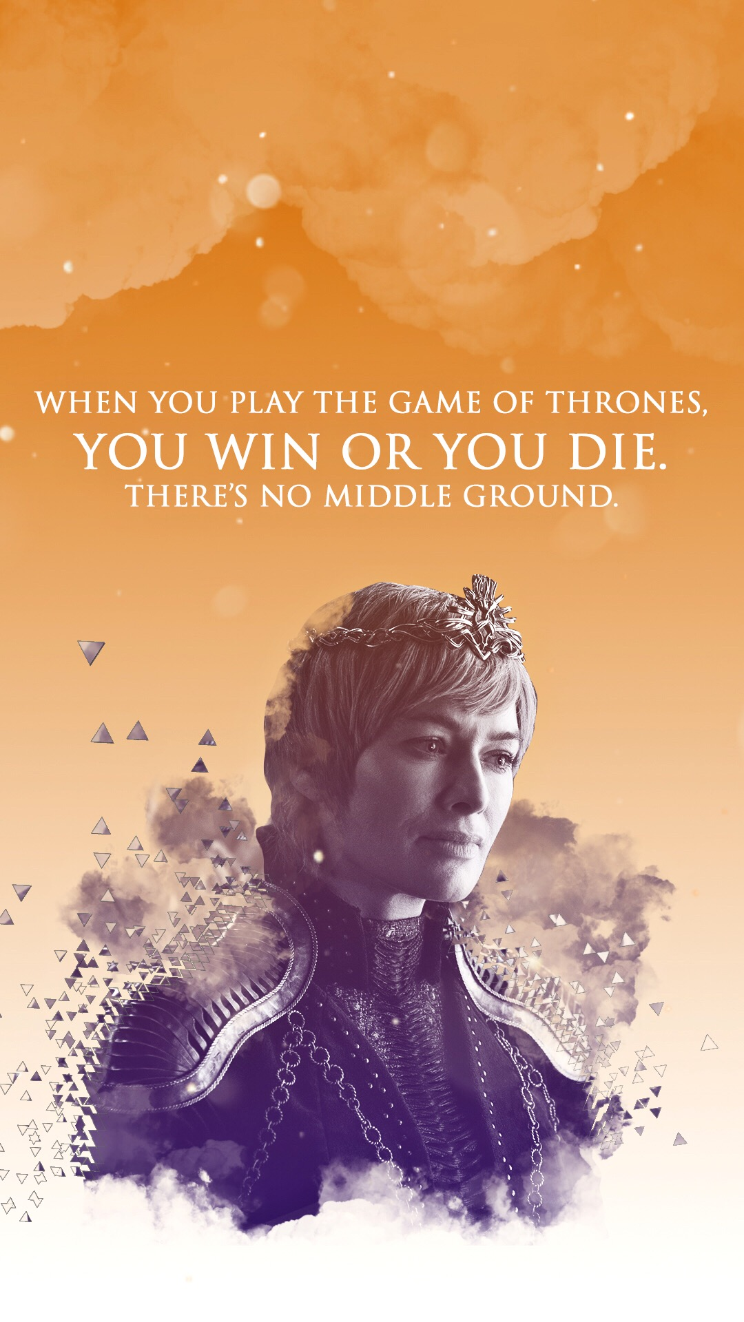 "Cersei Lannister Game of Thrones wallpaper ""When you play the Game of Thrones you win or you die. There's no middle ground."""