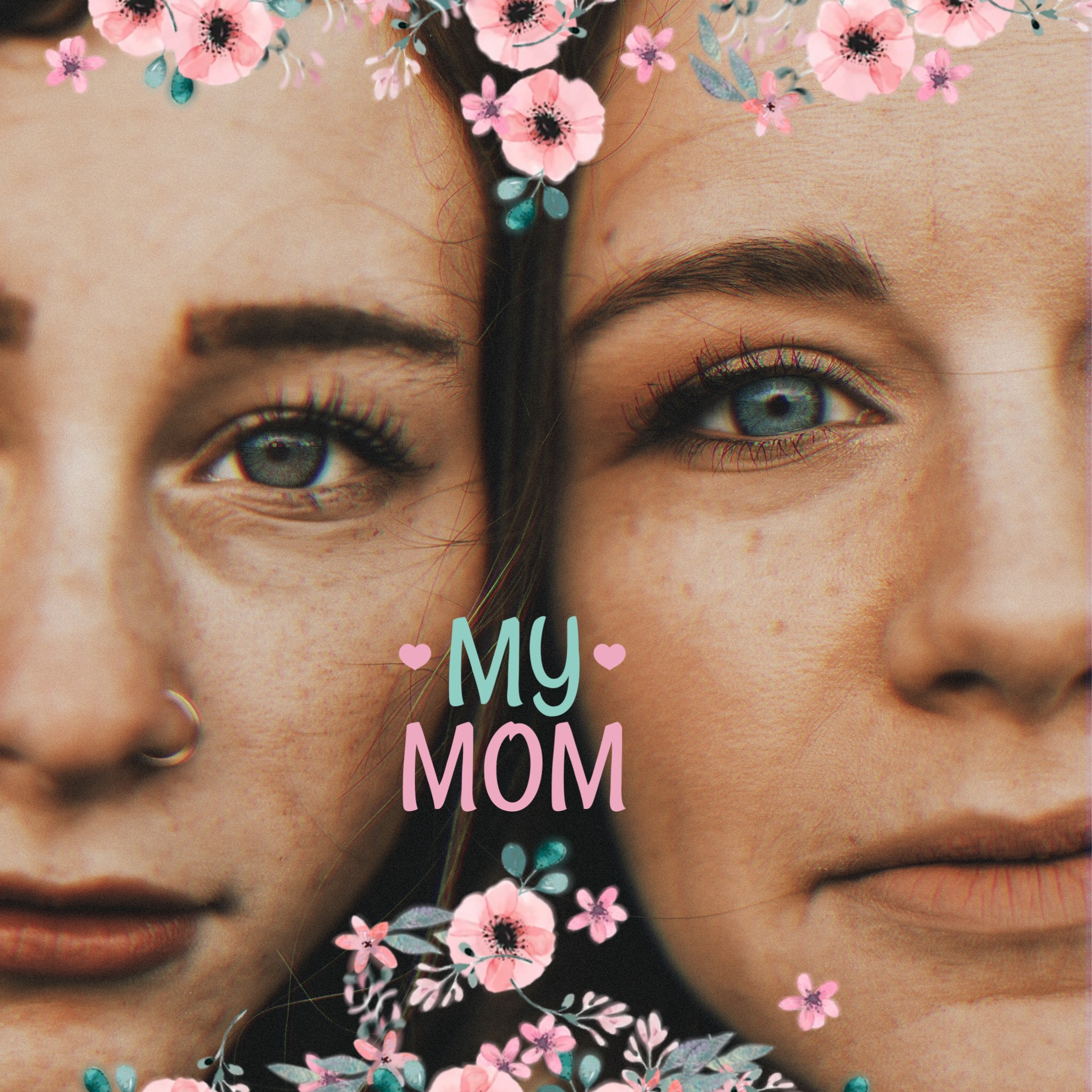 Mother, daughter portrait picture