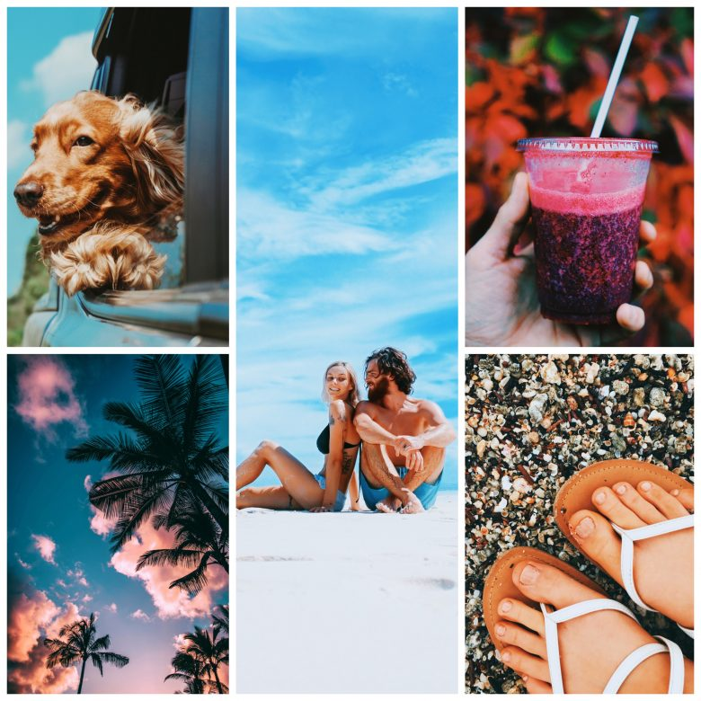 Summer-themed collage made with PicsArt