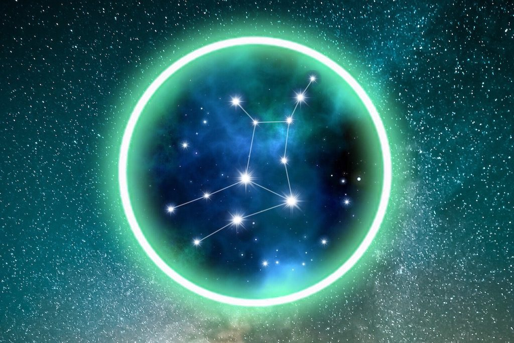 Virgo zodiac constellation