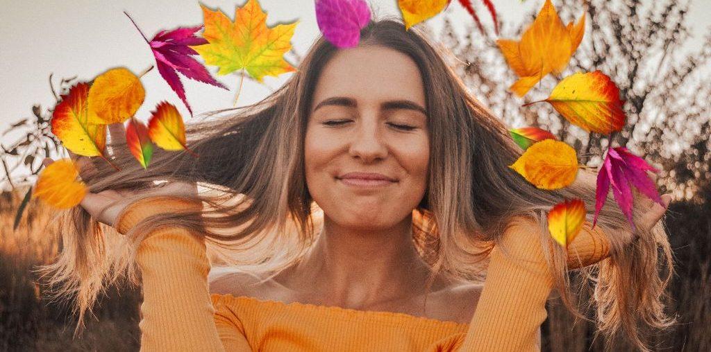Creative Fall leaves photo edit