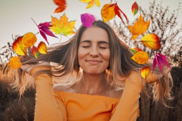Creative Fall leaves photo edit