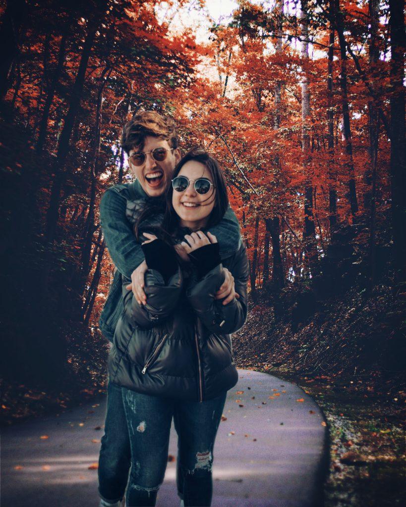 Fall photoshoot background change