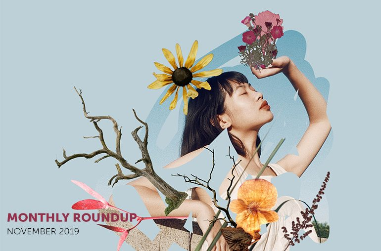 Featured Image November roundup girl flowers tree