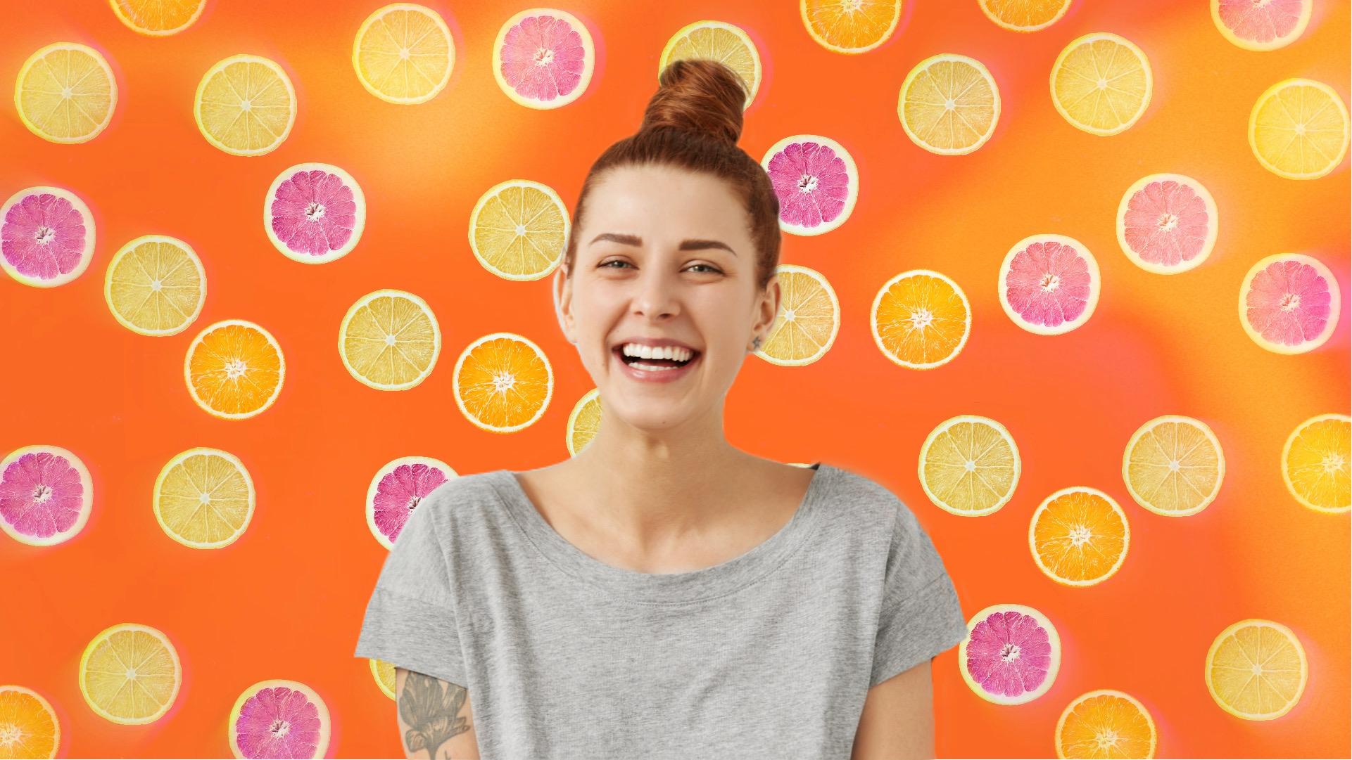 Citrus zoom background