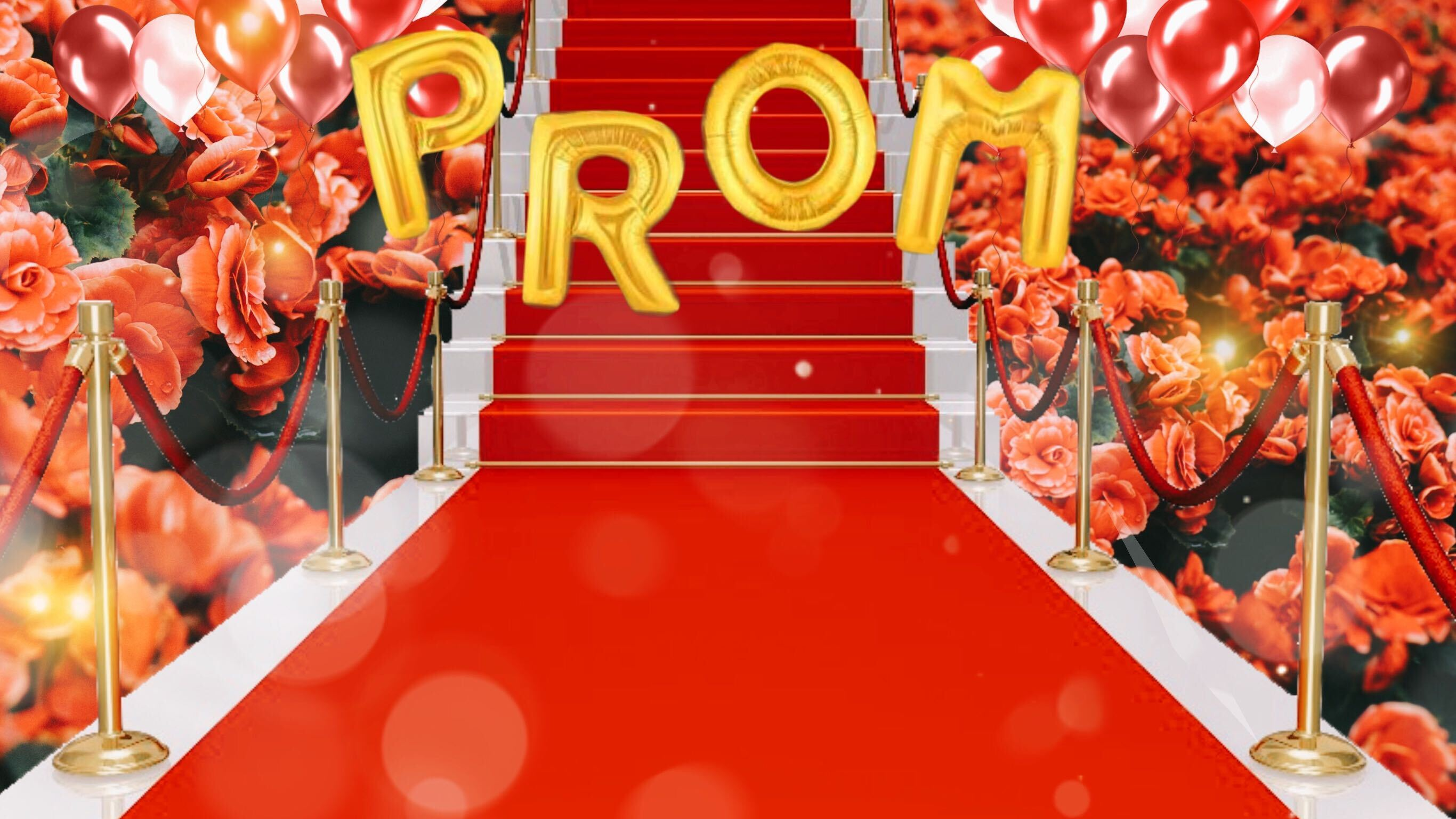 Red carpet zoom background
