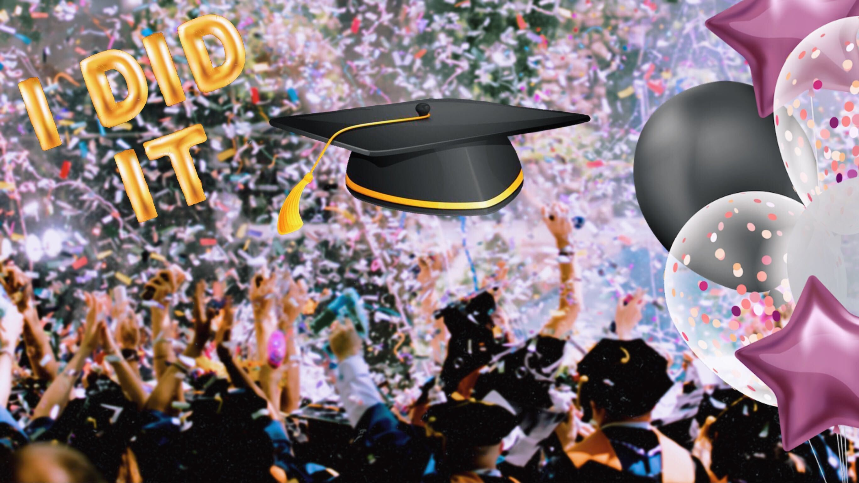 virtual zoom graduation background