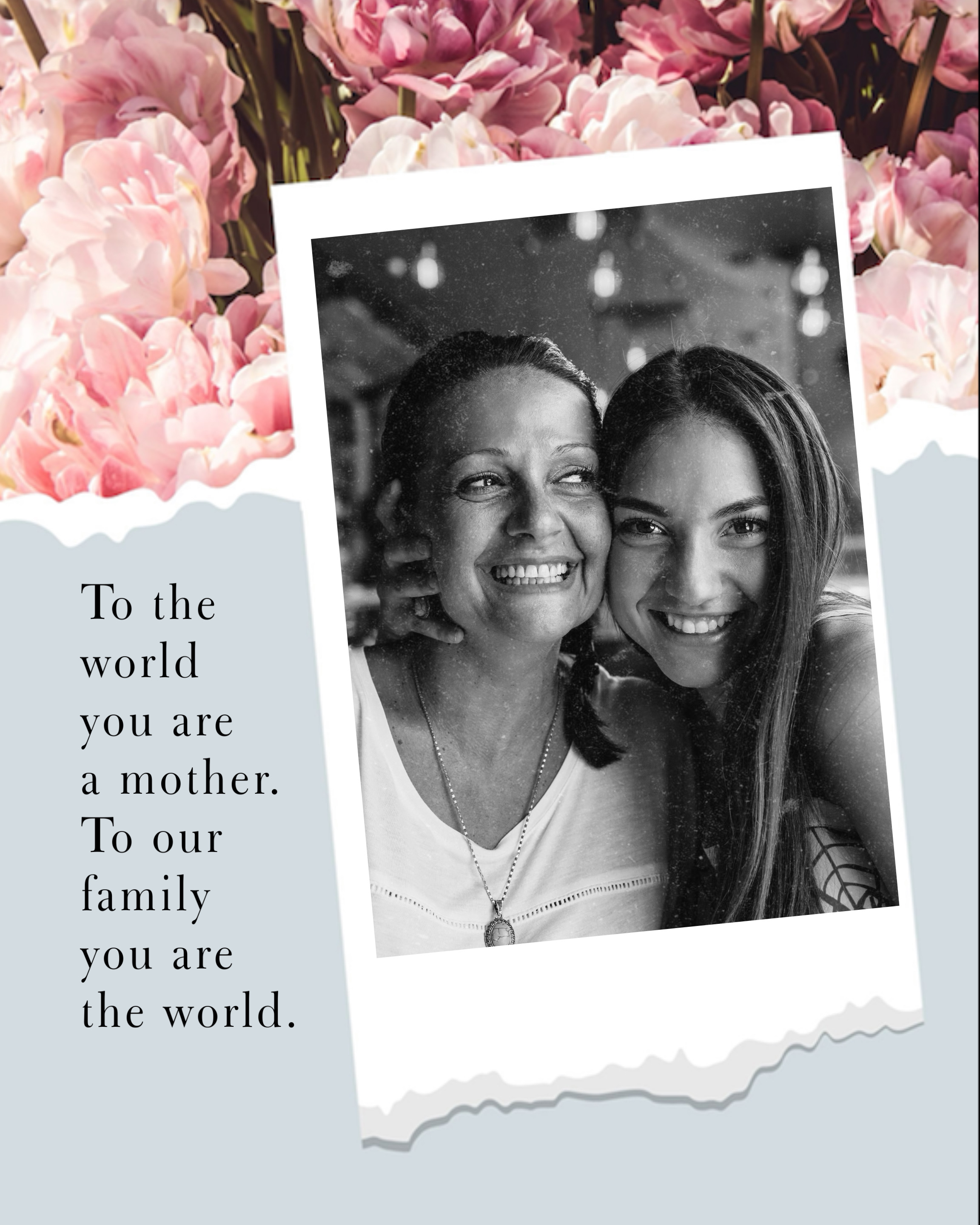 happy mother and daughter with mother's day card template