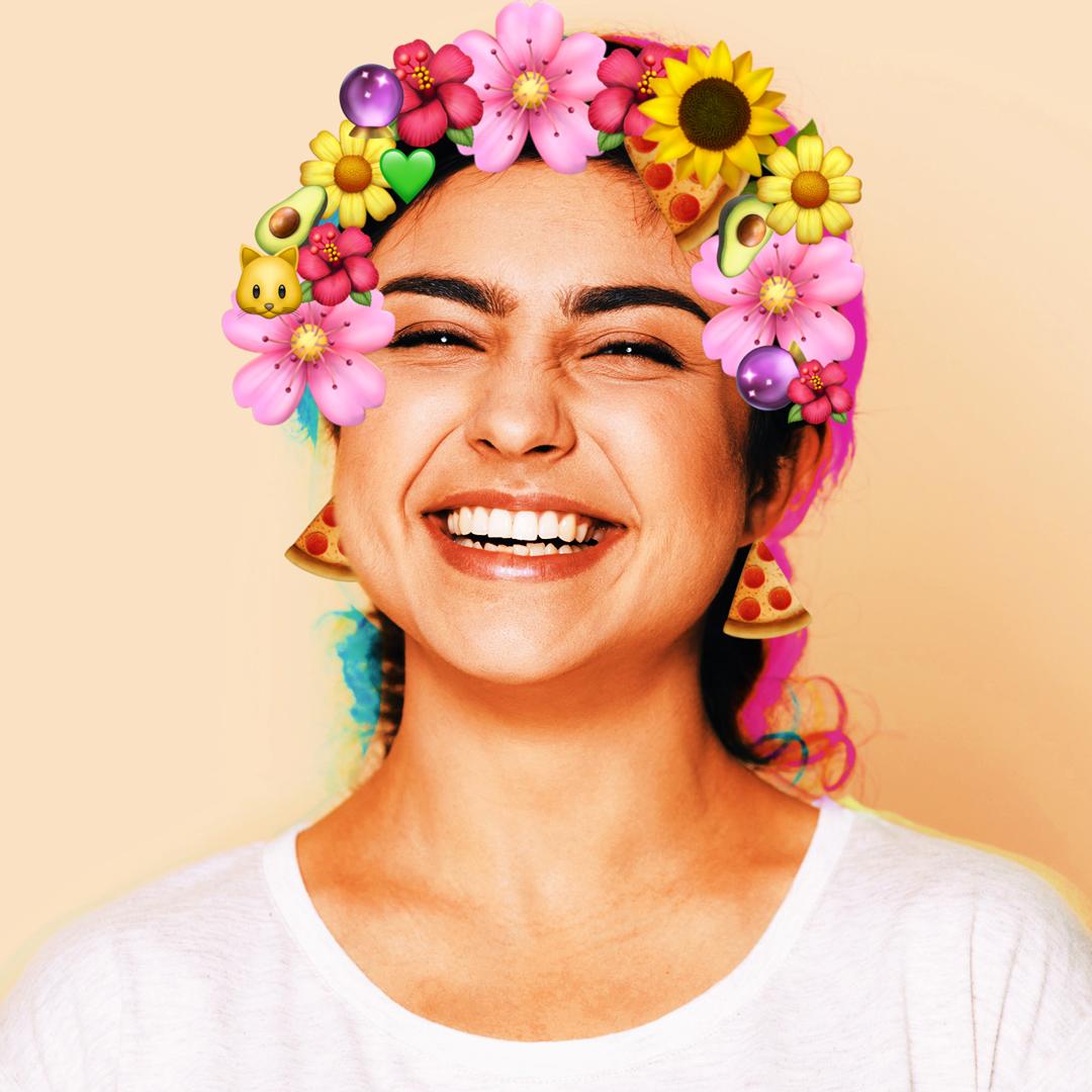 Cute floral emoji crown edit