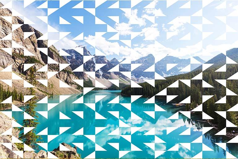 Geometric shapes on a photo