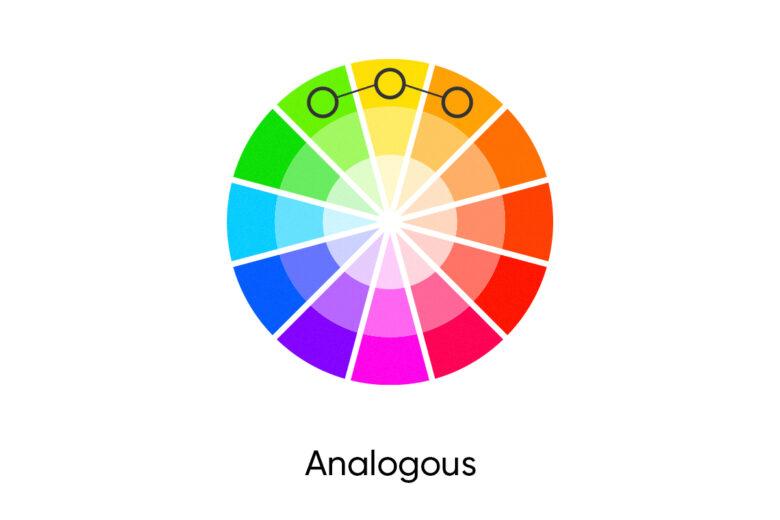 Analogous fall color palette