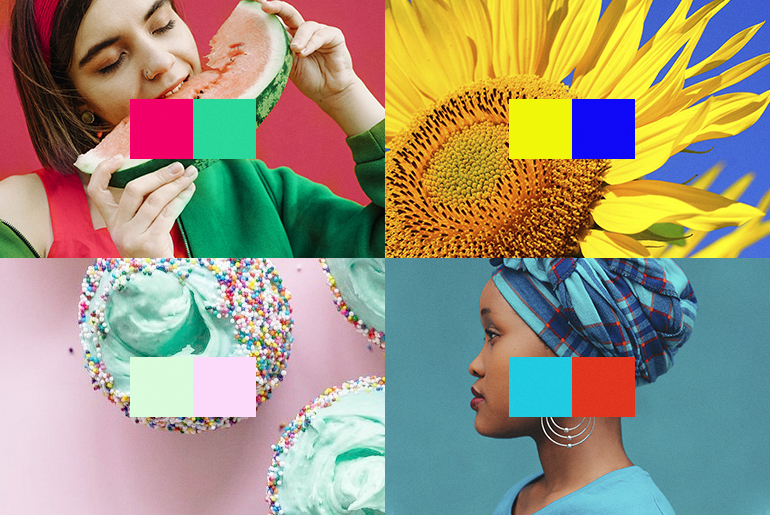 Colorful photo collage