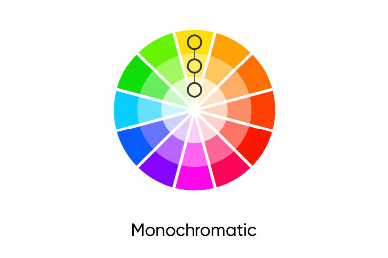 monochromatic fall color palette