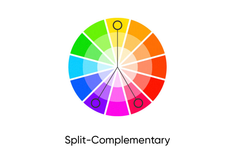 Split complementary fall color palette