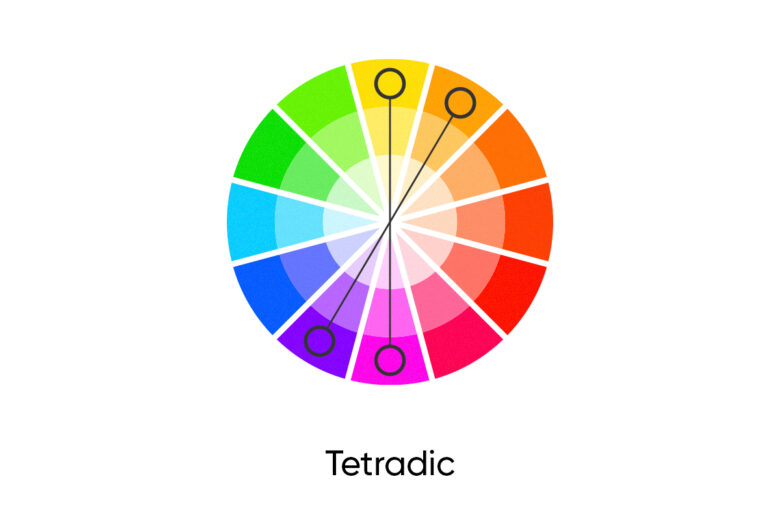 Tetradic fall color palette